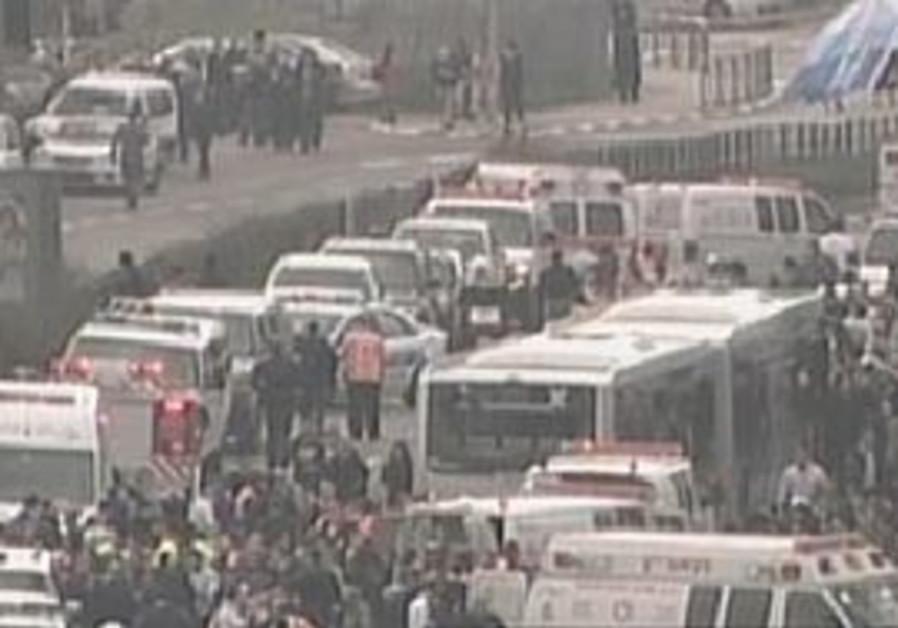 Explosion on a central Jerusalem bus