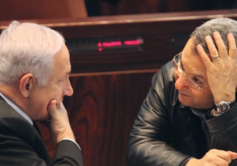 Barak pressure Netanyahu