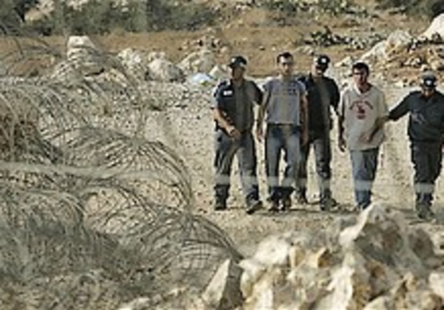 60 youngsters removed from Samaria outpost