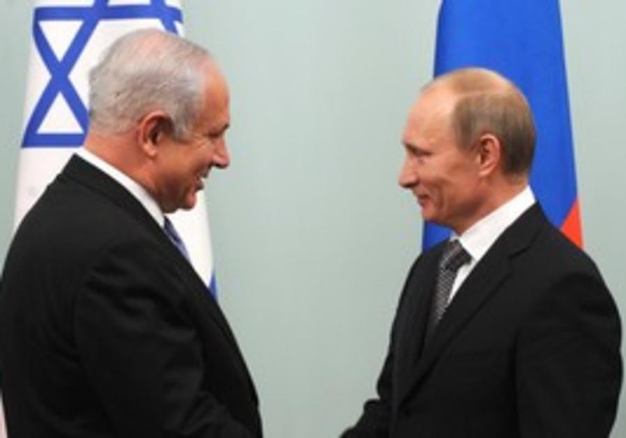 PM Netanyahu with Russian PM Vladimir Putin