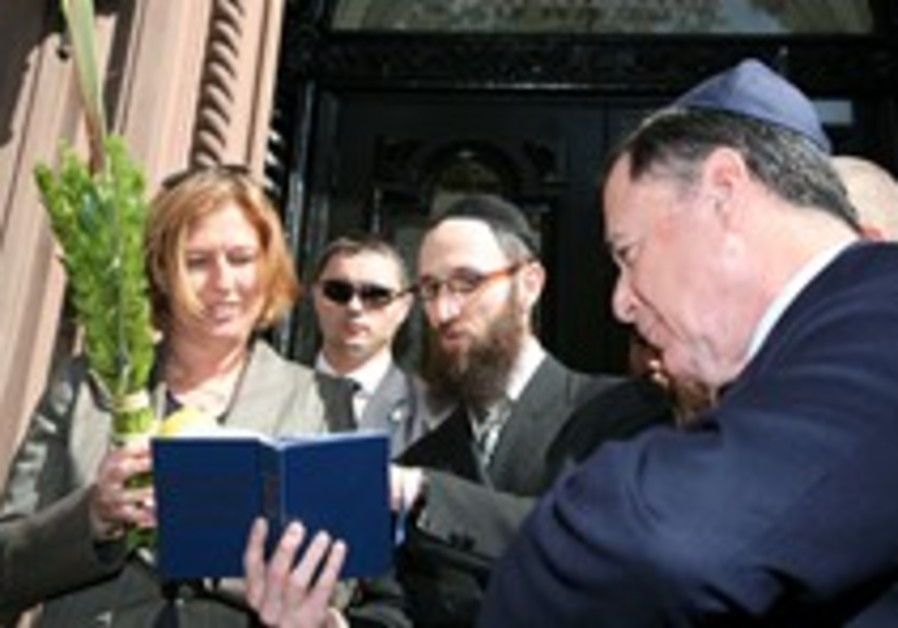Livni responds to Brooklyn swastikas