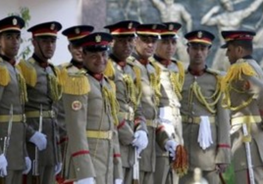 Egyptian honor guard in Cairo