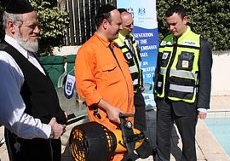 UK ambassador Matthew Gould and Yehuda Meshi-Zahav