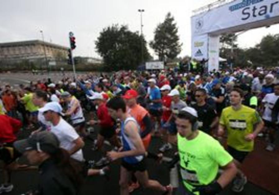 Jerusalem Marathon starting line