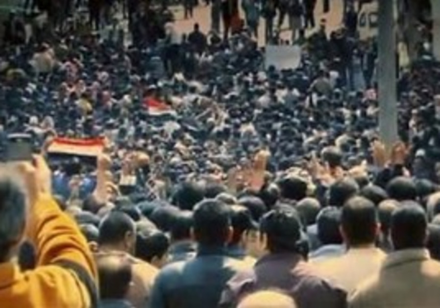 Syrian protesters in funeral procession