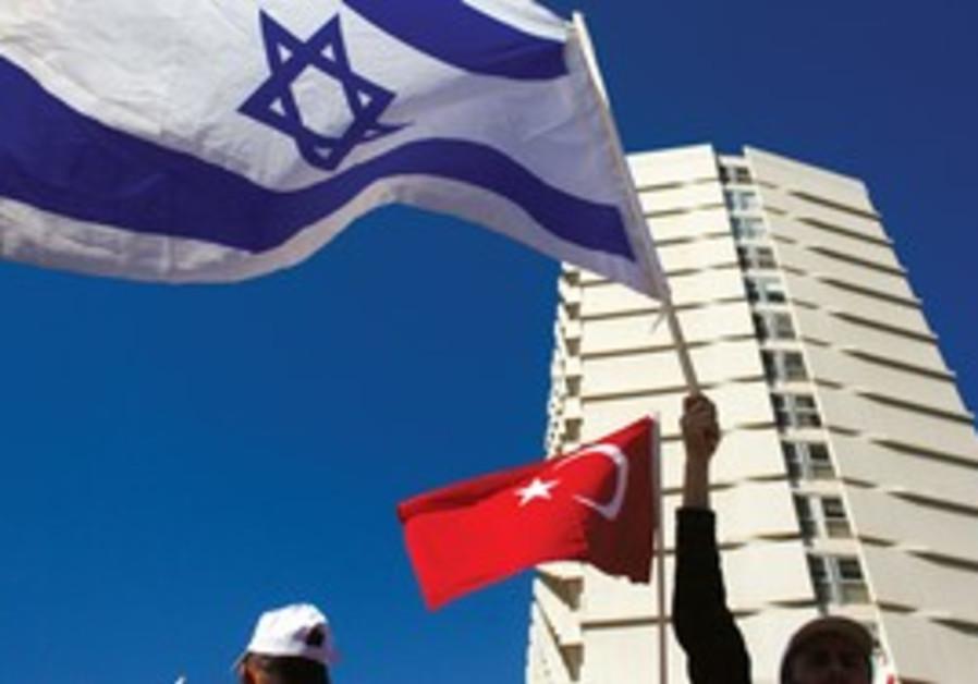 Turkish workers in Tel Aviv protesting tensions