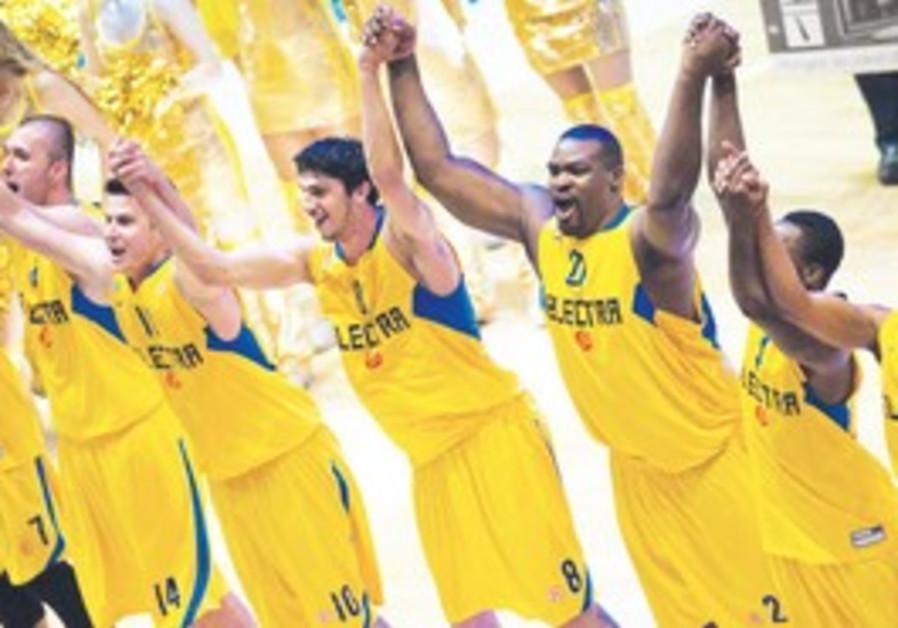 Maccabi Tel Aviv celebrates victory