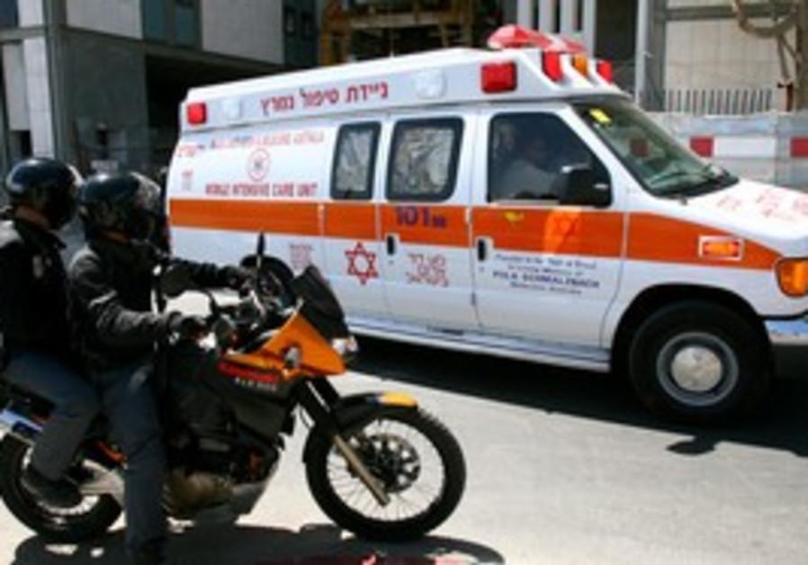 A Magen David Adom ambulance.