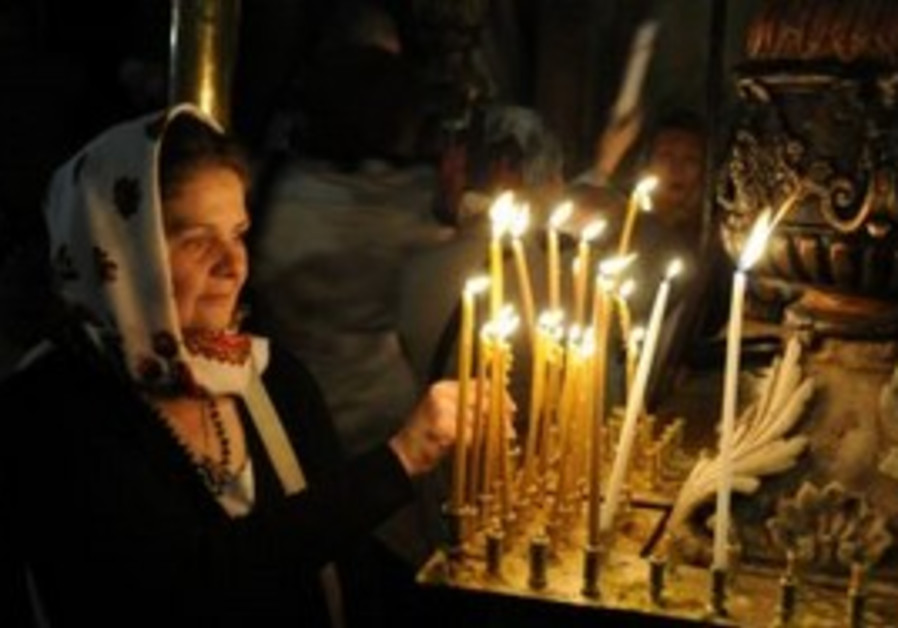 Holy Fire cememony at Holy Sepulchre.