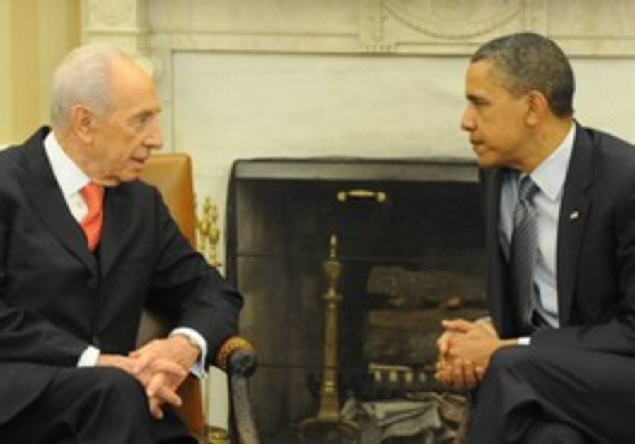 President Peres with US President Obama
