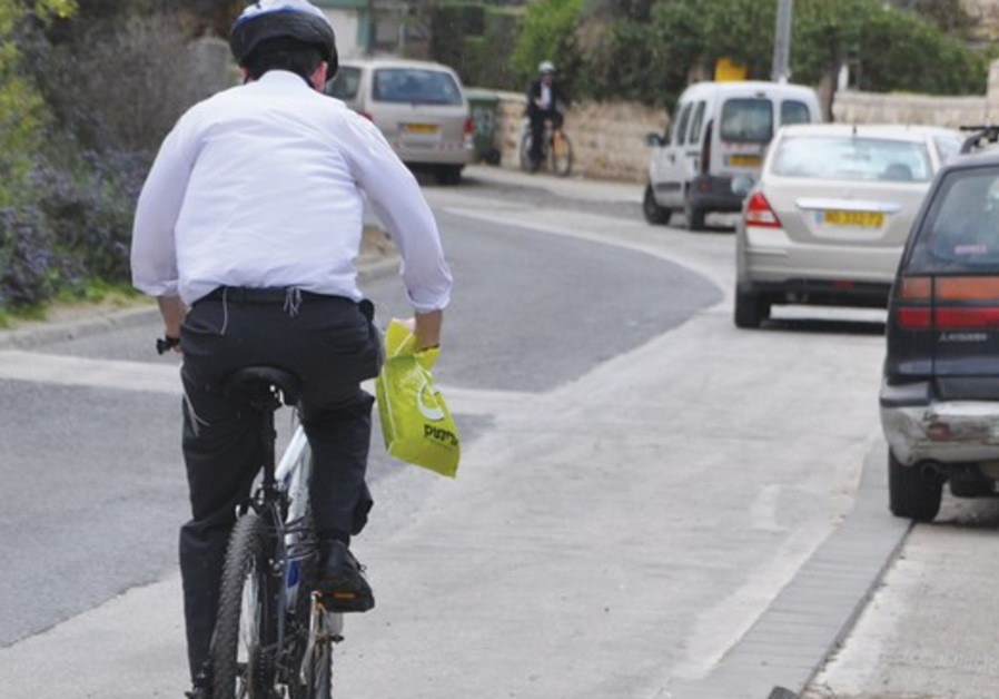 In some places the cyclist has nowhere to go