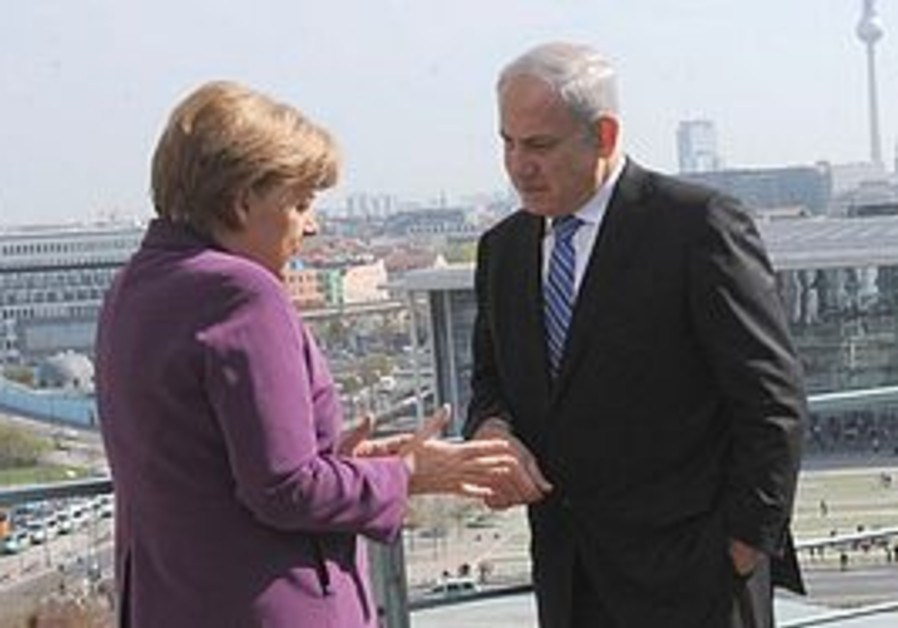 Binyamin Netanyahu and Angela Merkel