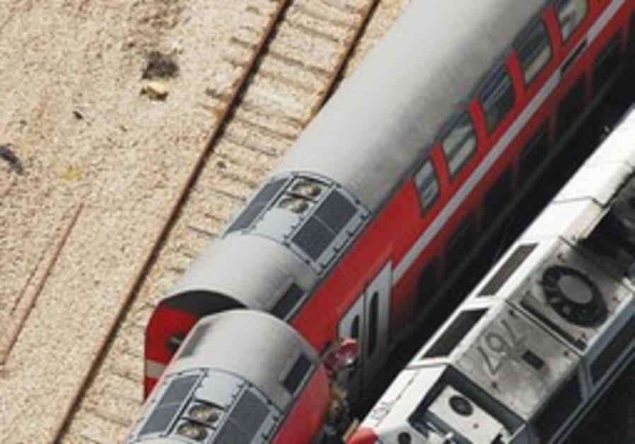 Two trains grazed one another near Netanya.