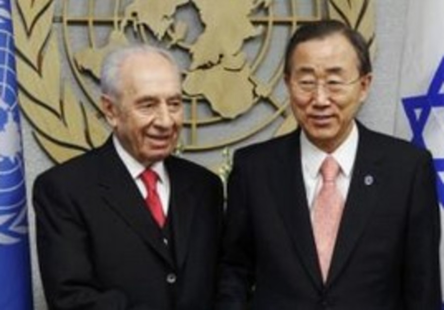 Presdient Peres meets with UN's Ban ki-Moon