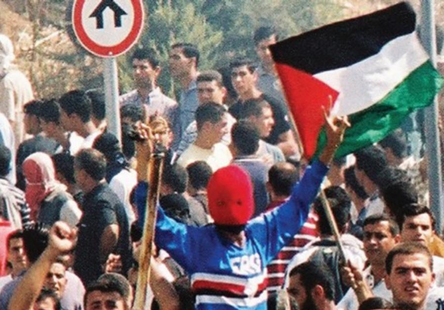 Arabs riot in Umm el- Fahm, on 'Land Day,' 2000.