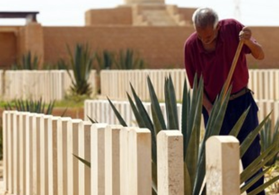 Hamish weeds from around Libyan WW II graves.