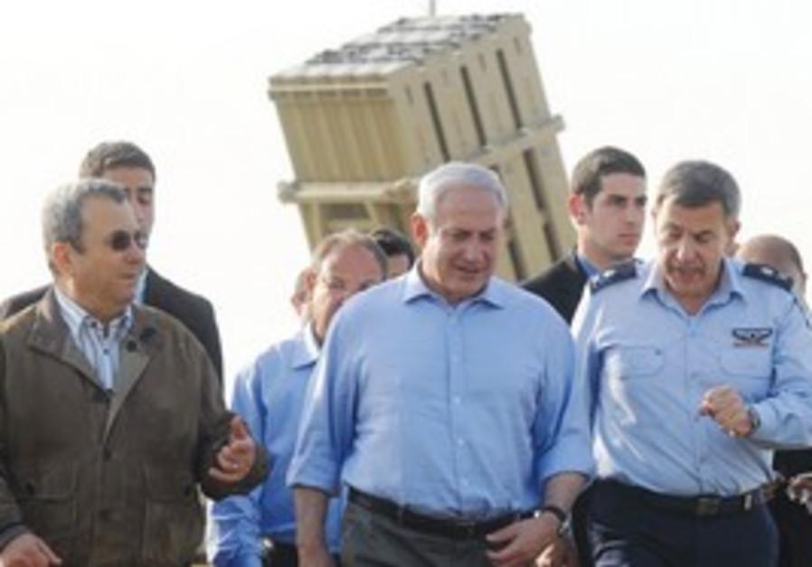 Netanyahu, Barak inspect the Iron Dome system