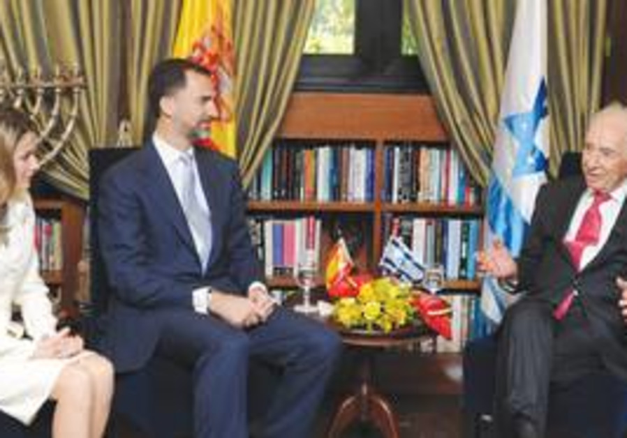 Crown Prince Felipe of Spain with Peres