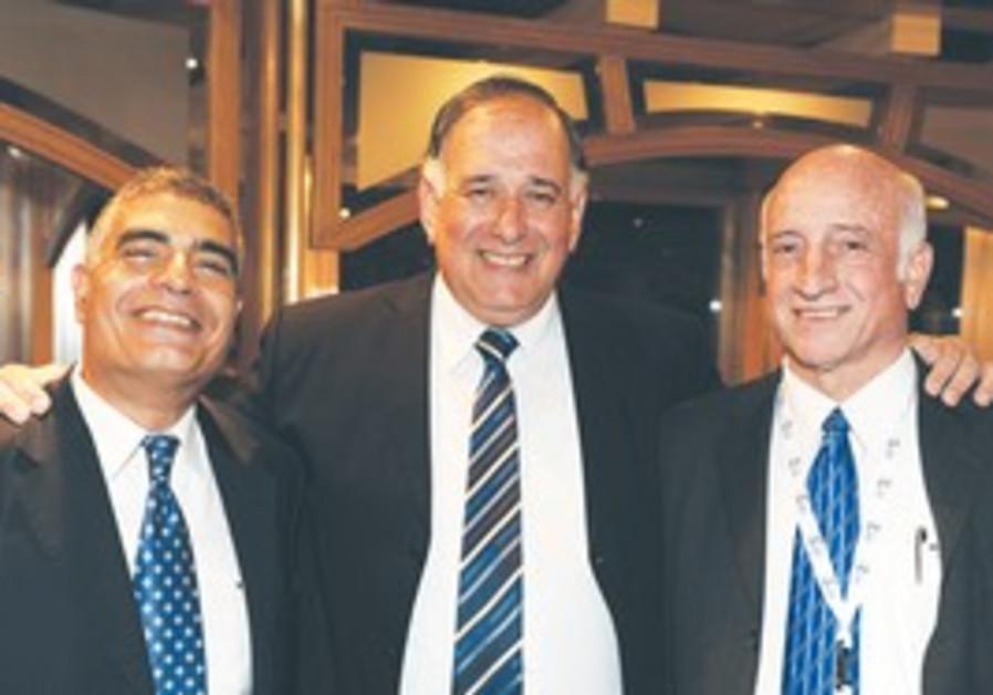 Yona Yahav, Dr. Eli Opper, and Israel Shamay.