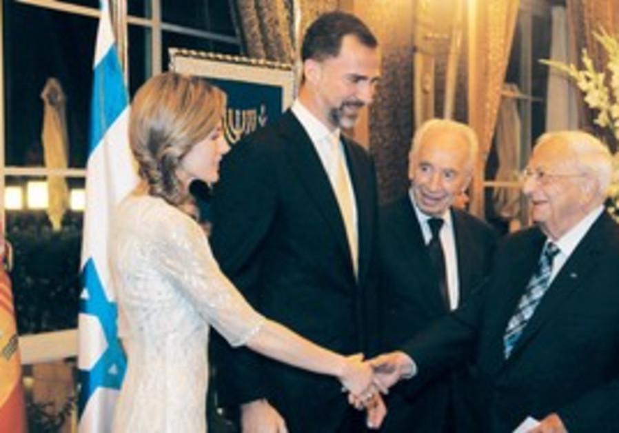 Prince Felipe and Princess Letizia in Jerusalem.