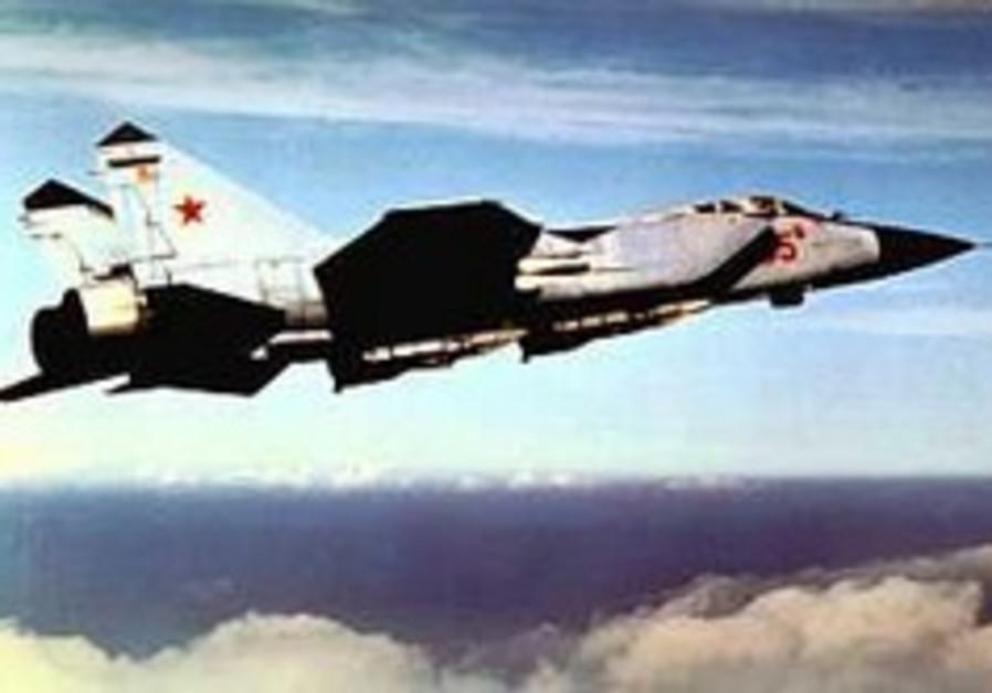A MiG 31 warplane.
