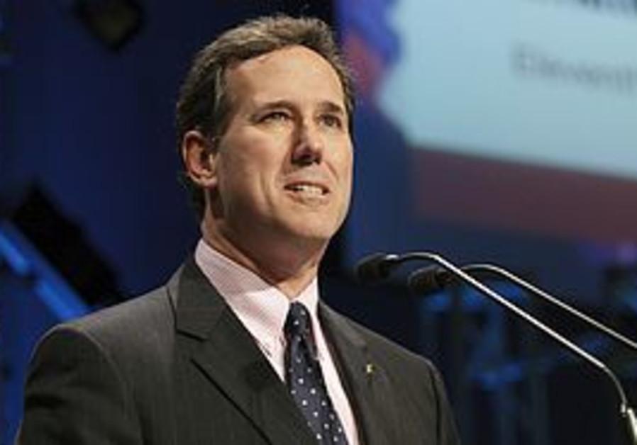 Republican candidate Rick Santorum