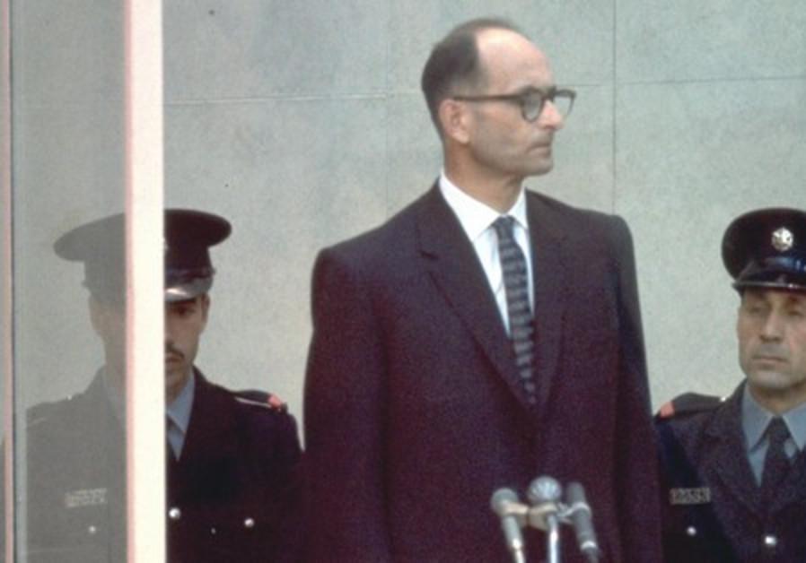 Adolf Eichmann on trial in Jerusalem