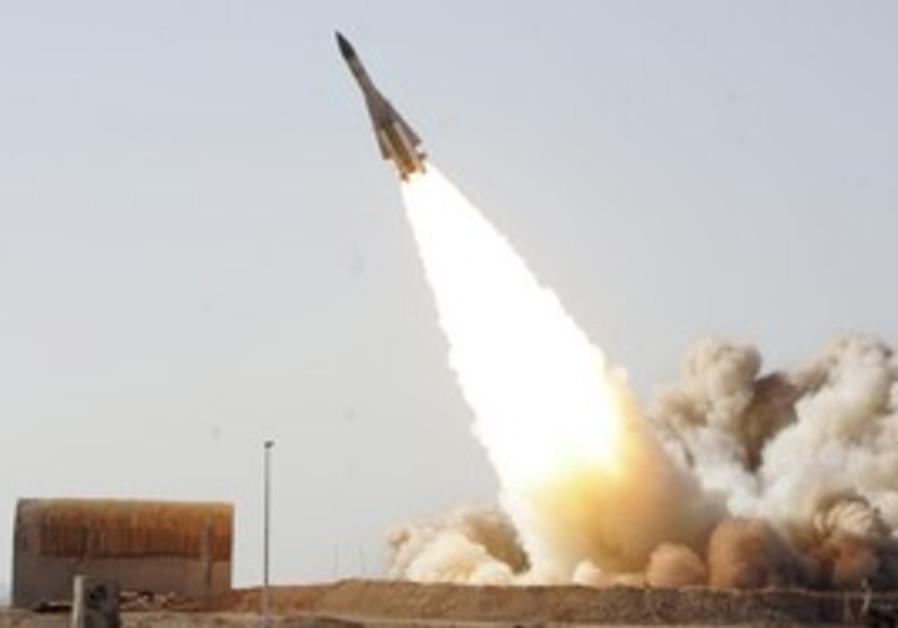 Iranian anti-aircraft missile testing.