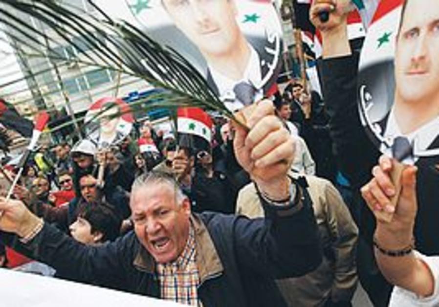 pro-Assad protest