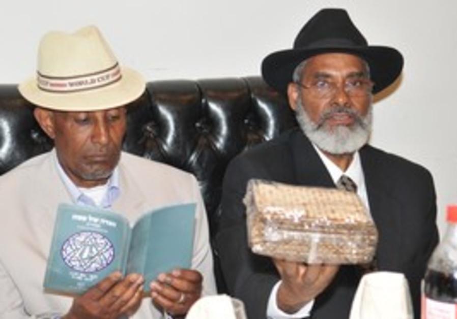 New Ethiopian immigrants at seder