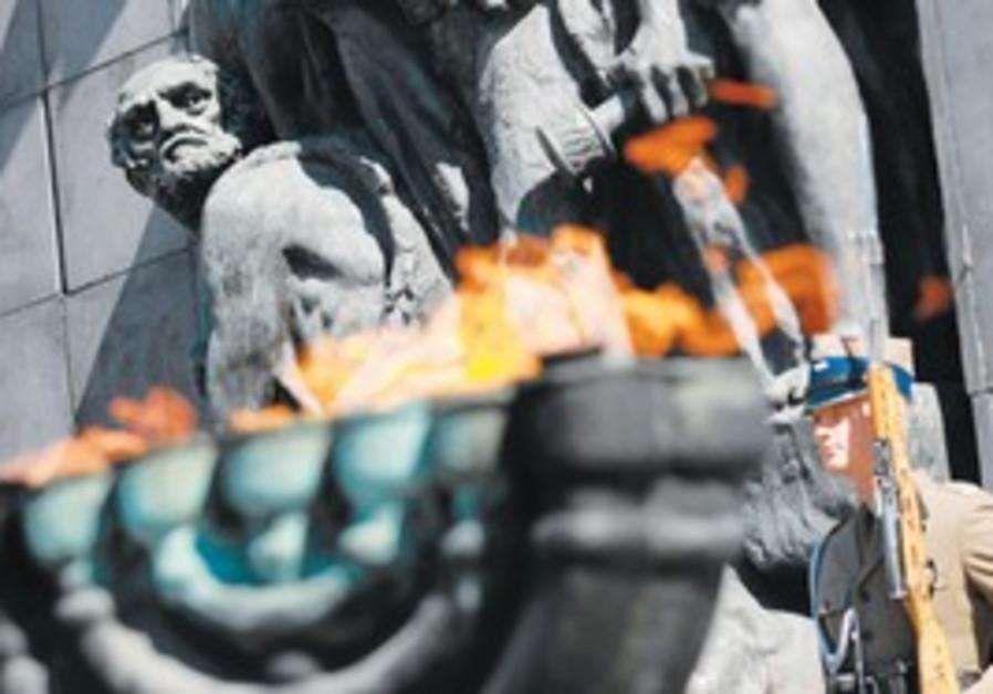 Warsaw Ghetto monument in Poland