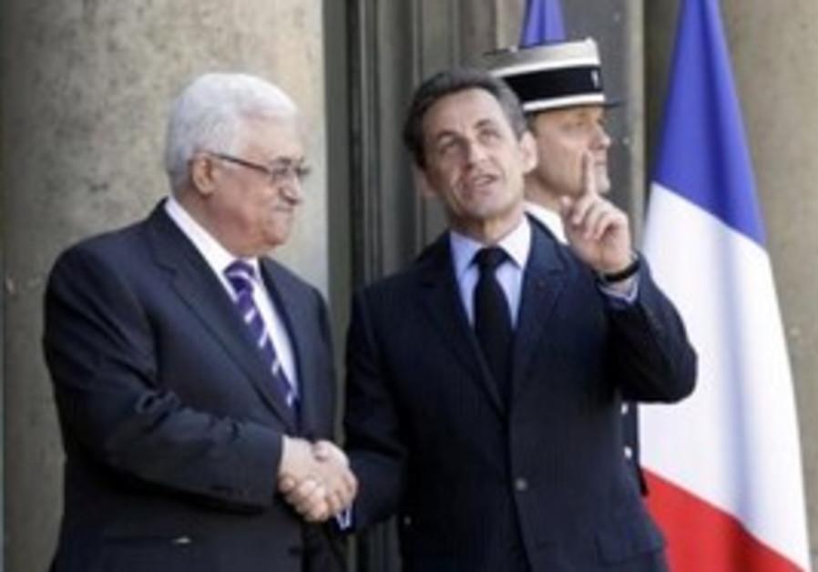 PA President Abbas, French President Sarkozy
