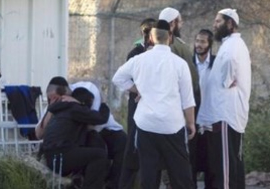 Worshipers react after Nablus shooting