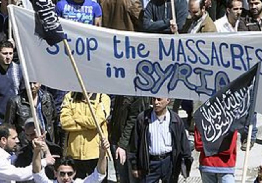Syria massacres protest