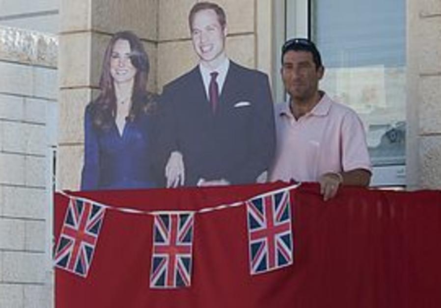 Dov Newmark celebrates the Royal wedding in Modiin