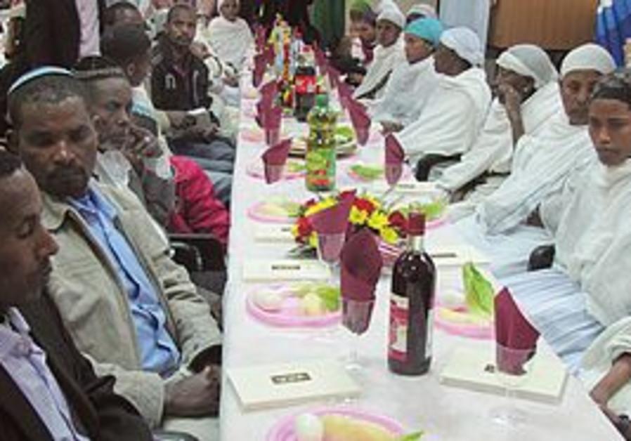 Ethiopian Jews at seder