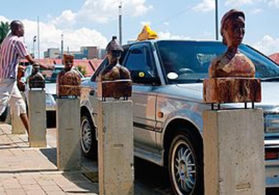 Pedestrian walking in Johannesburg