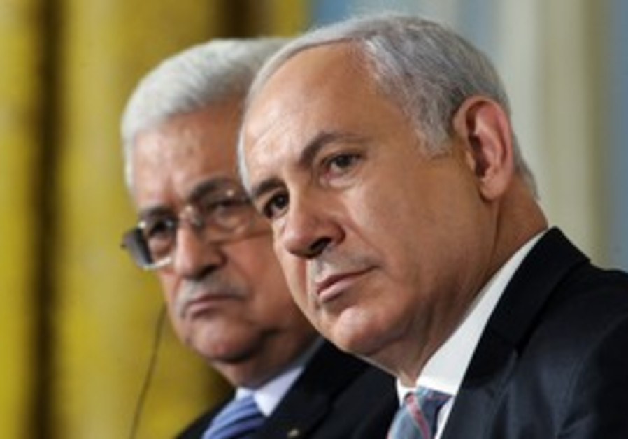 PA President Abbas with PM Netanyahu