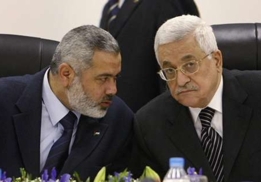 Mahmoud Abbas and Ismail Haniyeh