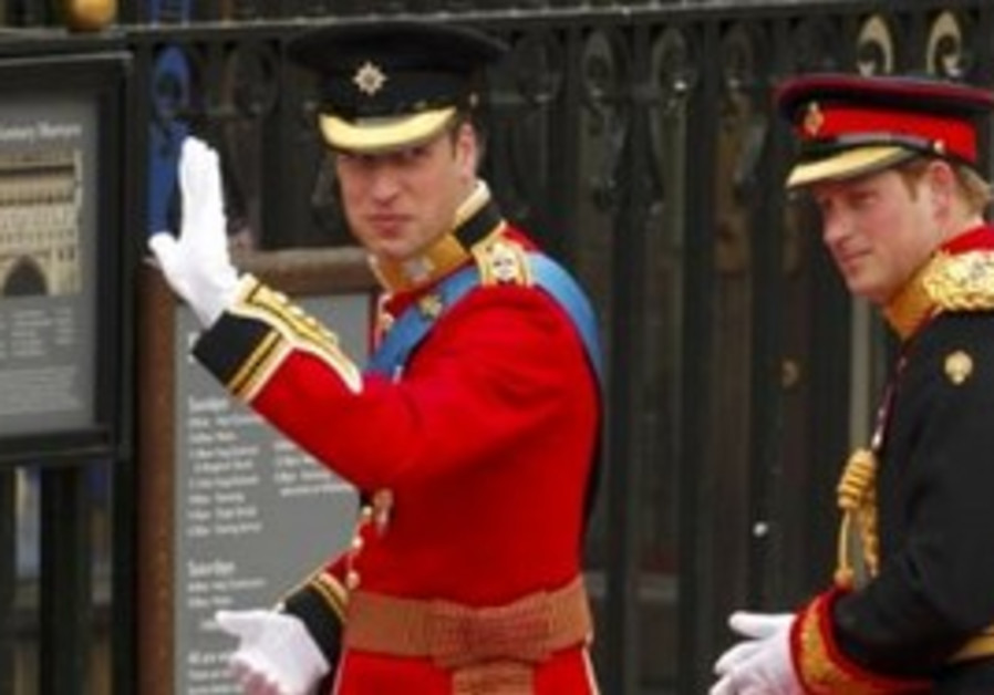 Prince William arrives at Westminster Abbey, Fri.
