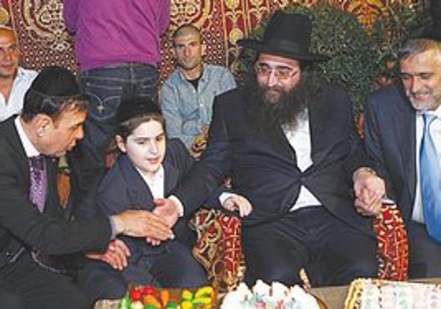 Rabbi Pinto with Eli Yishai and Jack Avital