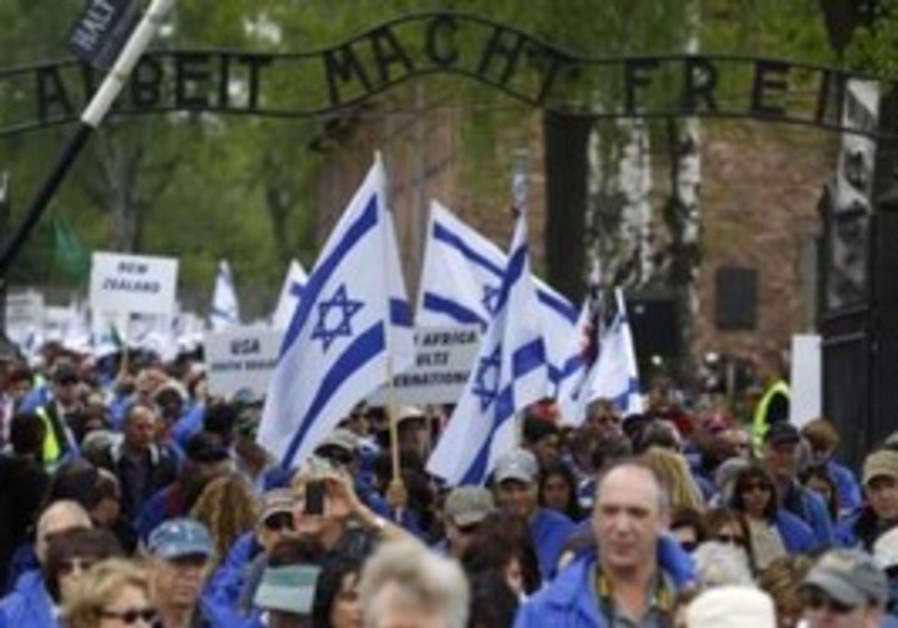 March of the Living at Auschwitz