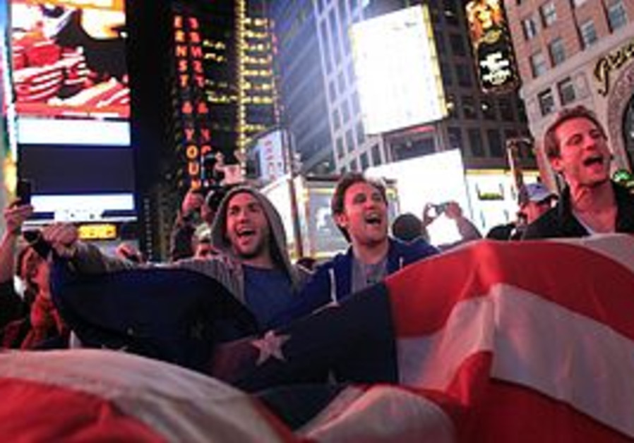 Americans in Times Square react to Osama death