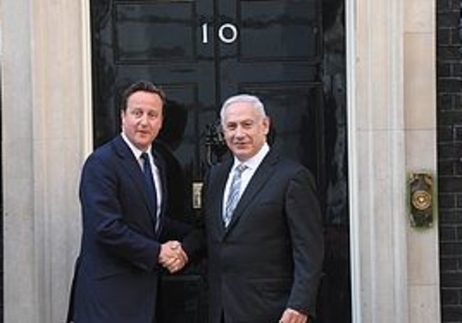 Cameron and Netanyahu at 10 Downing St.