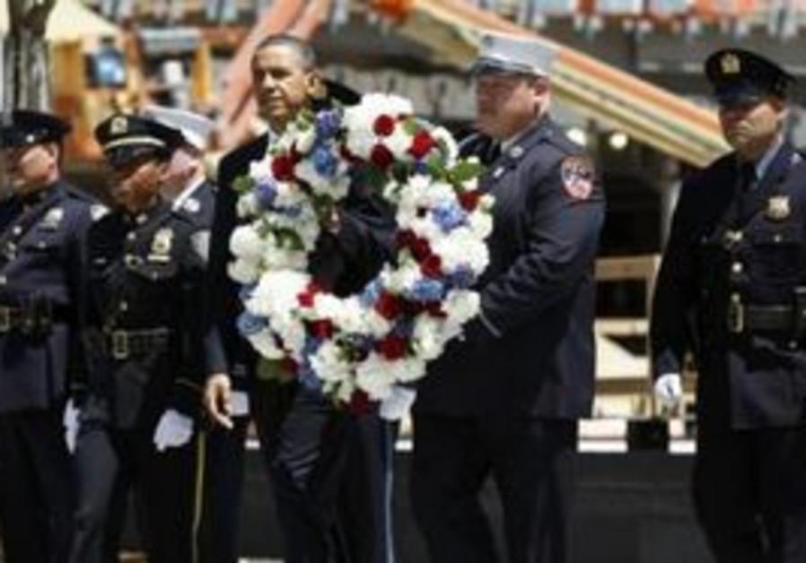 US President Barack Obama at Ground Zero in NY