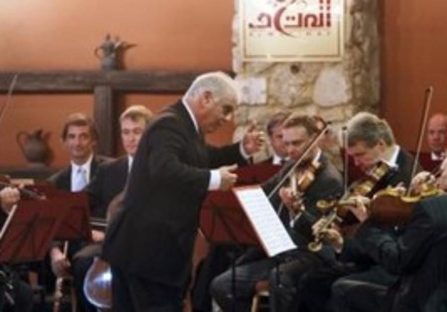 Daniel Barenboim performing in Gaza