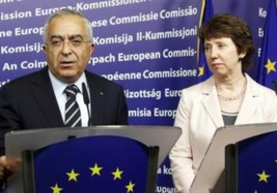 PA PM Fayyad with EU foreign policy chief Ashton