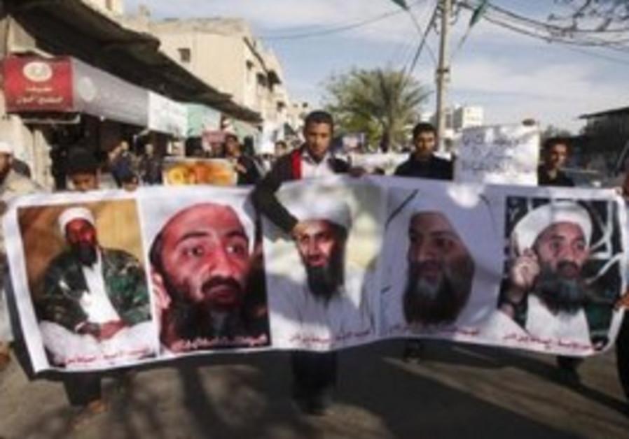 Salafist Palestinians pro-bin Laden rally in Gaza