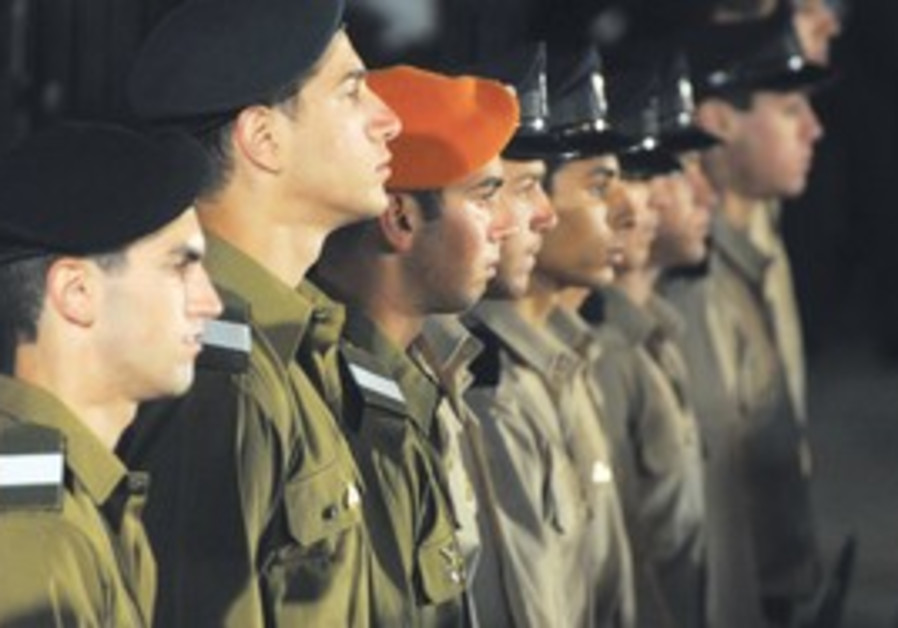 IDF Soldiers at Western Wall on Memorial Day