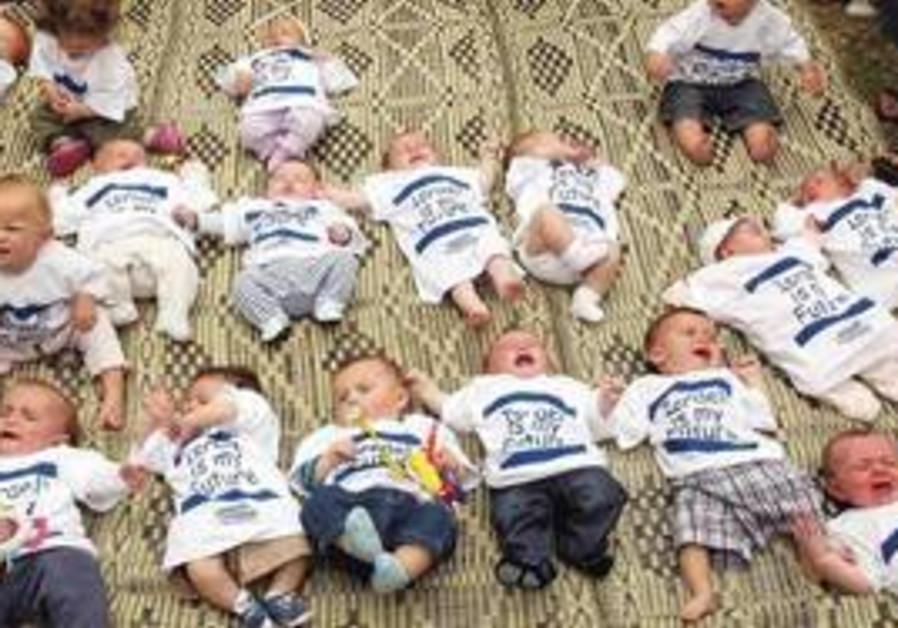 Babies born in Israel.